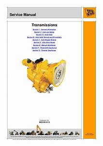 Jcb Transmission Service Repair Manual