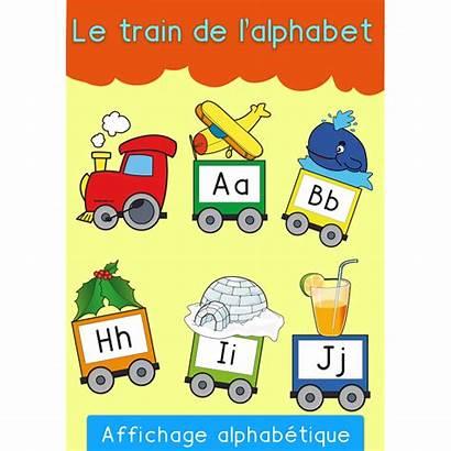 Train Alphabet Affichage Section Maternelle Lettres Moyenne