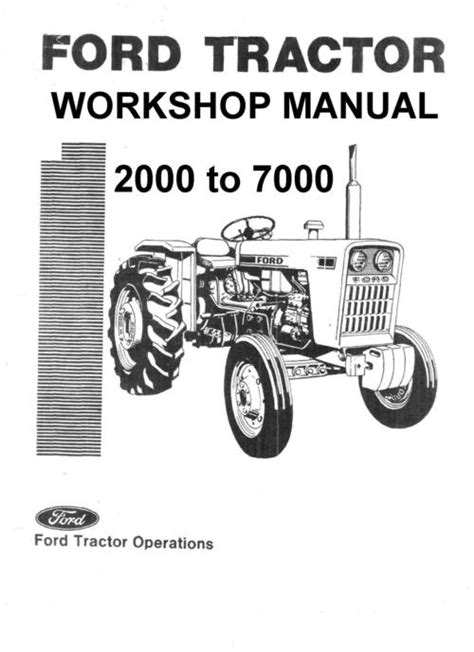 ford  series vintage tractor illustrated parts manual