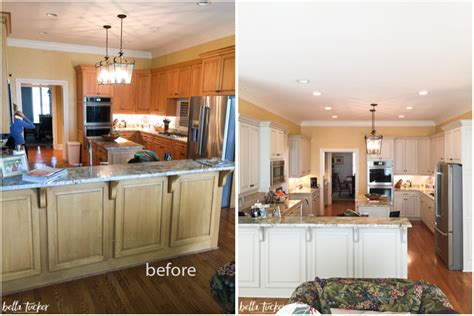 painted kitchens before and after painted cabinets nashville tn before and after photos 129 | kitchen cabinet painting before and after bella tucker horizontal