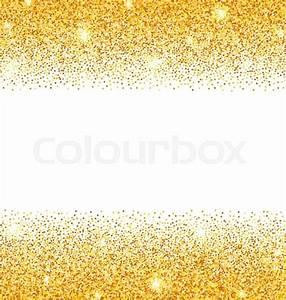 Illustration Abstract Golden Sparkles on White Background ...