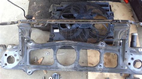 bmw e39 540i 530i 525i radiator support bar auxiliary fan removal