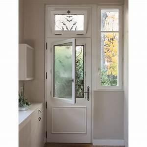Valencay porte d39entree en bois haute performance avec for Porte de garage coulissante avec porte interieur vitree blanc