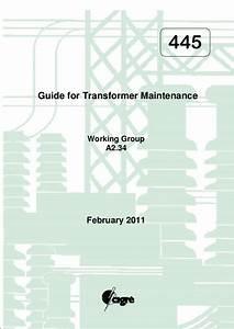 Guide For Transformer Maintenance  Cigre