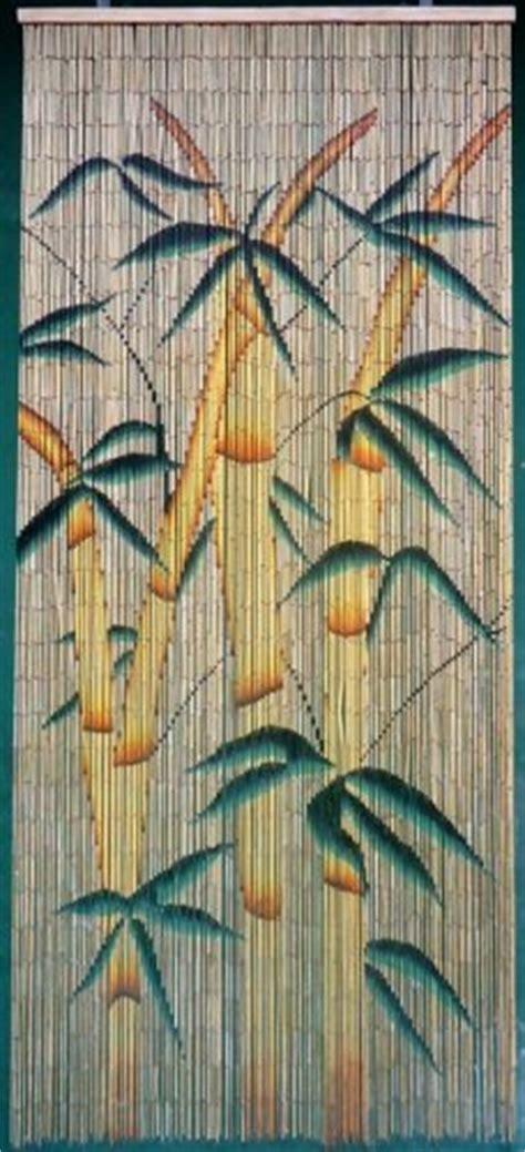 tropical bamboo stalks beaded curtain  strands