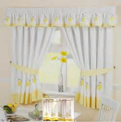kitchen cafe curtains ideas yellow lemon voile cafe curtain panel kitchen curtains many sizes ebay