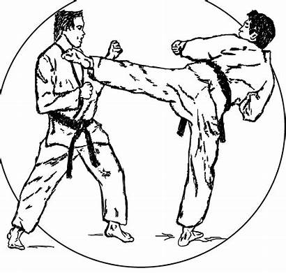 Karate Coloring Pages Martial Arts Colouring Clipart