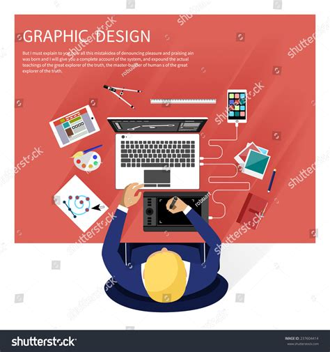 graphic design tools concept graphic design designer tools software stock
