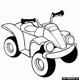 Coloring Atv Quad 4x4 Bb Thecolor Road sketch template