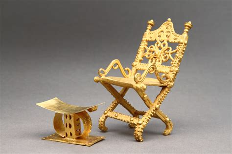 The Ashanti Golden Stool - west asante miniature representation of the