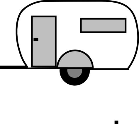 Camper Clipart Black White   Free download on ClipArtMag