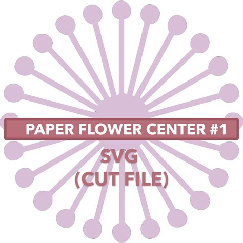 paper flower center template flower center 1 svg file by anaspaperflowers on etsy https www etsy listing 531504151