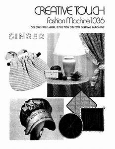 Singer 1036 Creative Touch User Manual