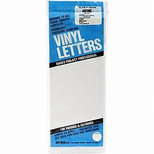 Duro permanent adhesive vinyl letters 6 inch white for Duro permanent adhesive vinyl letters