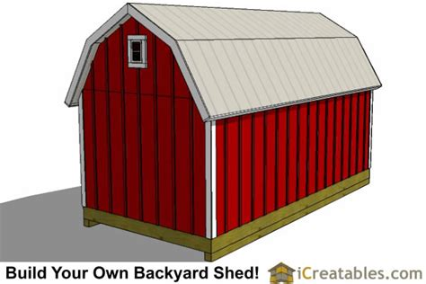 8x16 Shed Material List by 8x16 Gambrel Shed Plans Icreatables