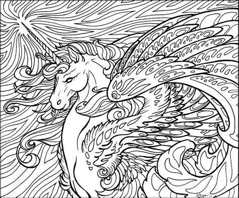 realistic unicorn coloring pages   print