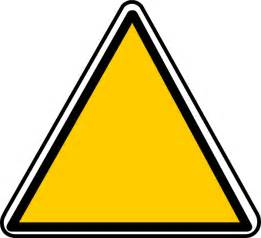 Yellow Triangle Sign