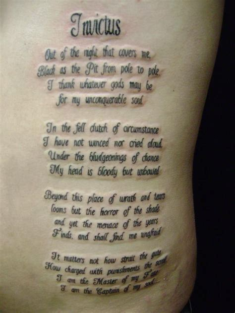 poem tattoo images designs