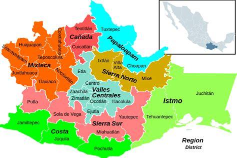 Fileoaxaca Regions And Districtssvg  Wikimedia Commons