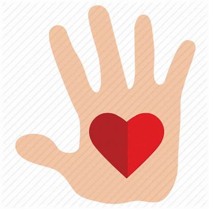Compassion Charity Icon Heart Hand Mercy Gift