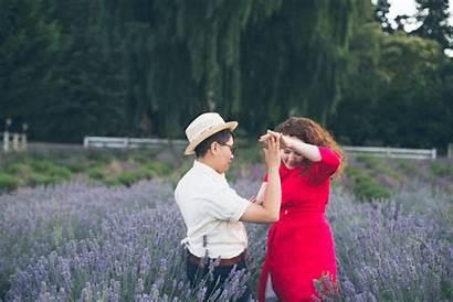 Engagement Joni Island Jennelle Sauvie Lavender Farms