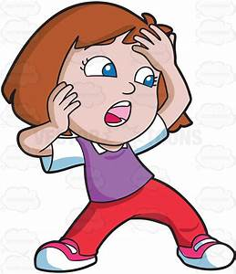 Little Girl Yelling Clipart - ClipartXtras