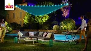 Voile D Ombrage Gifi : voile d 39 ombrage led solaire gifi youtube ~ Melissatoandfro.com Idées de Décoration