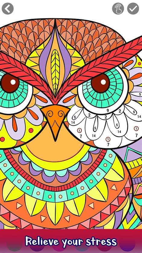 adult color  number coloring book pages  windows