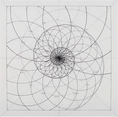 Ratio Golden Coloring Mandala Spiral Fibonacci Geometry