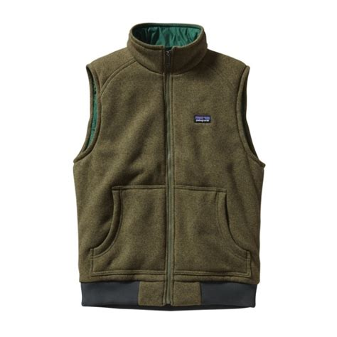patagonia insulated  sweater vest fatigue green smoked en