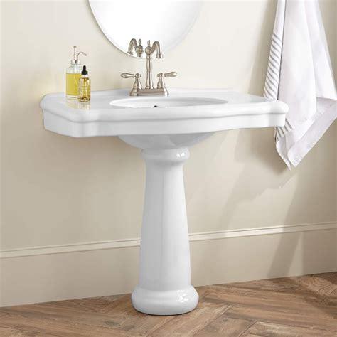 Carden Porcelain Pedestal Sink Bathroom