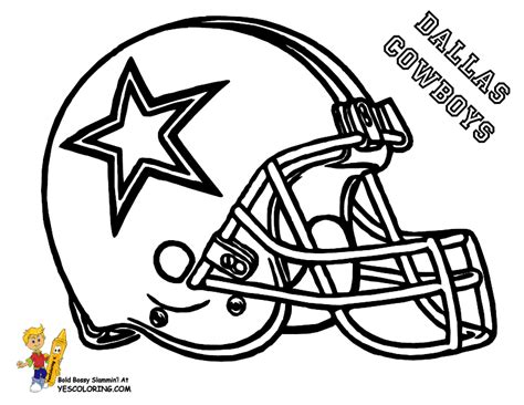 Pro Football Helmet Coloring Page
