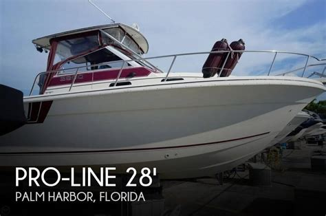 Used Proline Bay Boats For Sale by For Sale Used 1990 Pro Line 2800 Walkaround In Palm