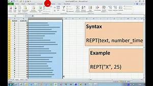 How To Create Quick Charts In Excel 2010 Youtube