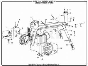 Homelite Ry49701 Electric Log Splitter Parts Diagram For