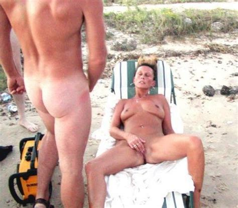 Voyeurs Watching Nude Couples Sex On The Beach In