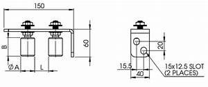 90 U00b0 Double Roller Gate Guide Bracket  Gtr015