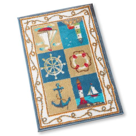 nautical rugs for boats coastal nautical accent rug at home territory