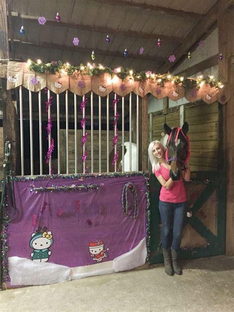 stall decorations ideas  pinterest horse