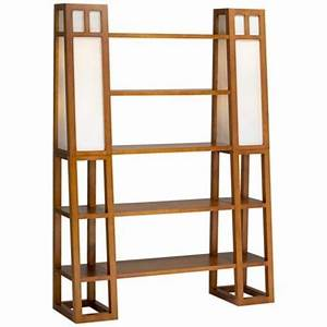 Walnut finish lighted 5 shelf etagere home decor for Etagere torchiere floor lamp with 3 glass shelves