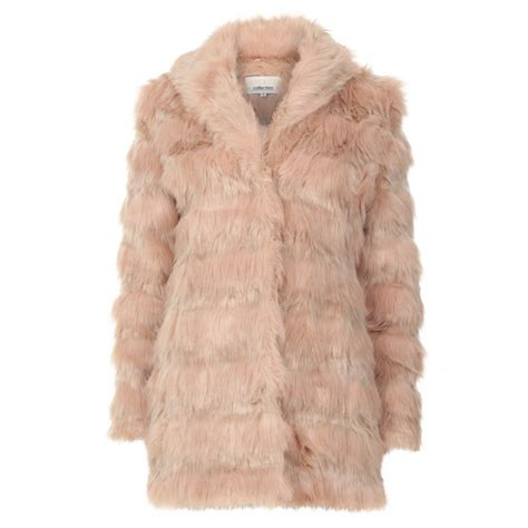 light blue faux fur coat womens light pink faux fur coat