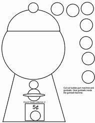 Gumball Machine Cut Out