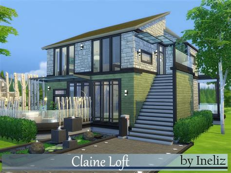 of sims 4 house building small modernity claine loft by ineliz at tsr 187 sims 4 updates Best