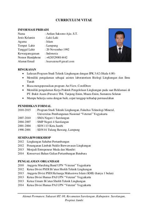 contoh resume kerja part time cara bikin cv kerja service laptop