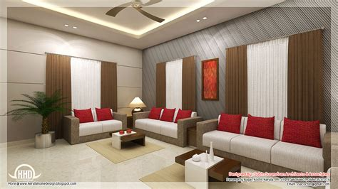 Livingroom Interiors by Awesome 3d Interior Renderings Kerala Home Design And
