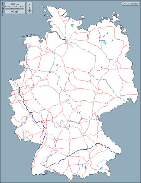 White germany outline free vector. Germany free map, free blank map, free outline map, free ...