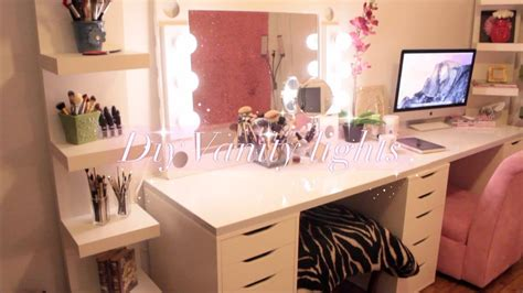 vanities for bedrooms with lights diy hollywood vanity lights mirror kingparis youtube 20060 | maxresdefault