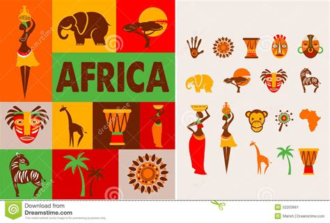 africa poster  background stock vector image