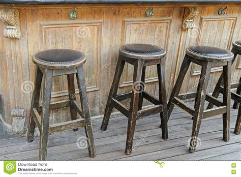 vintage wooden bar stools vintage and rustic wooden bar stools on wooden floor in 6884