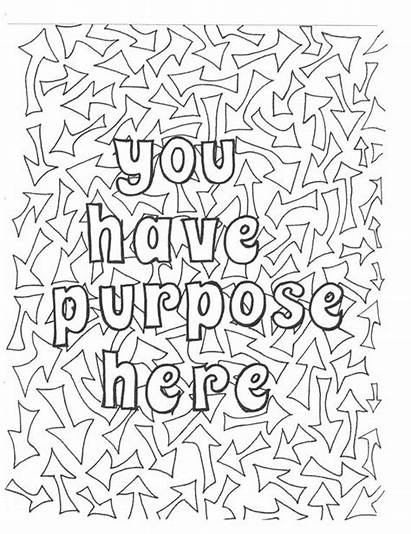 Coloring Pages Purpose Adult Affirmations Self Positive